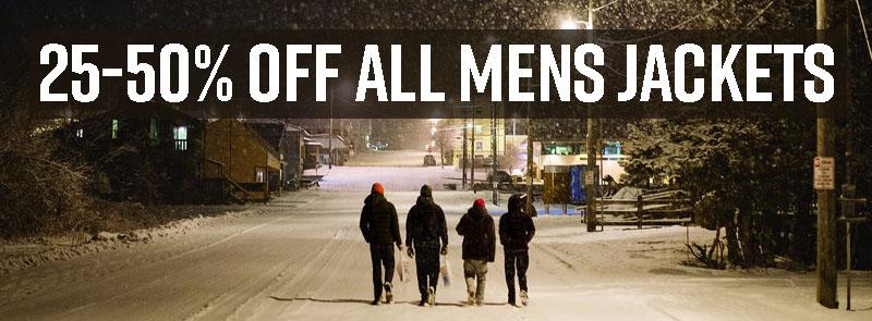 25-50% off men's jackets