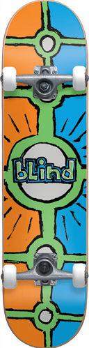 Blind Holy Grail Complete Skateboard, Orange Cyan