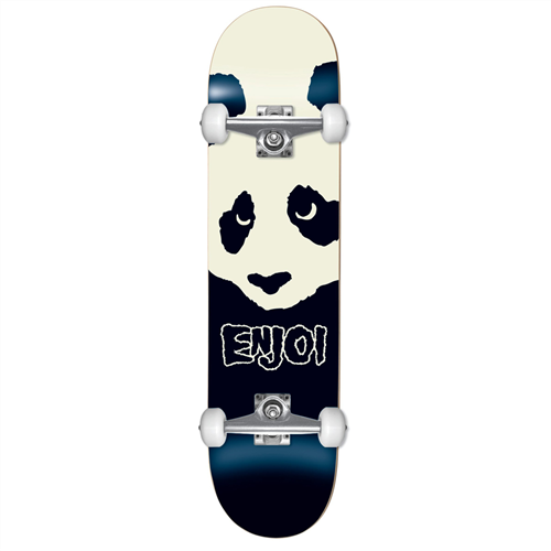 "Enjoi Misfit Panda FP Skate Complete, Black 7.6"""