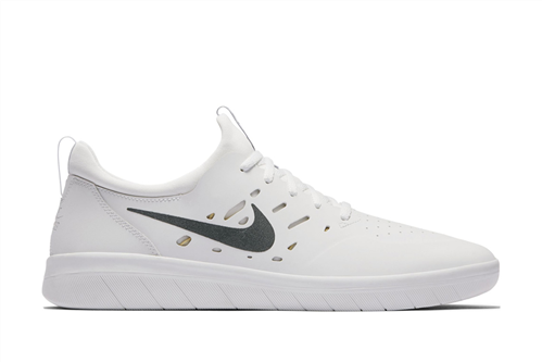 Nike Nyjah Free Skateboarding Shoe, White Lemon Wash