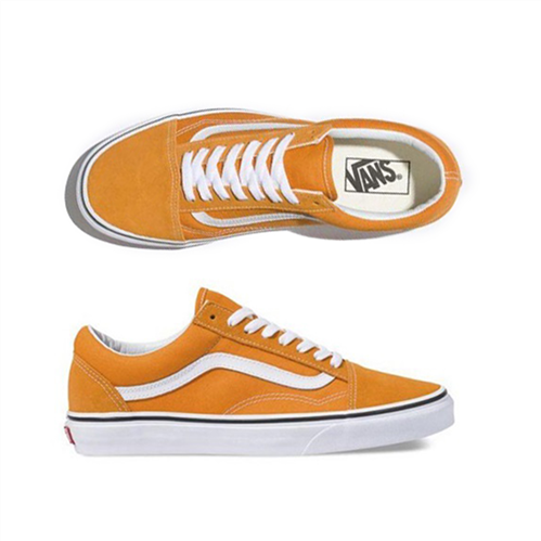 Vans Ua Old Skool Dark Cheddar Shoes, Orange Wht