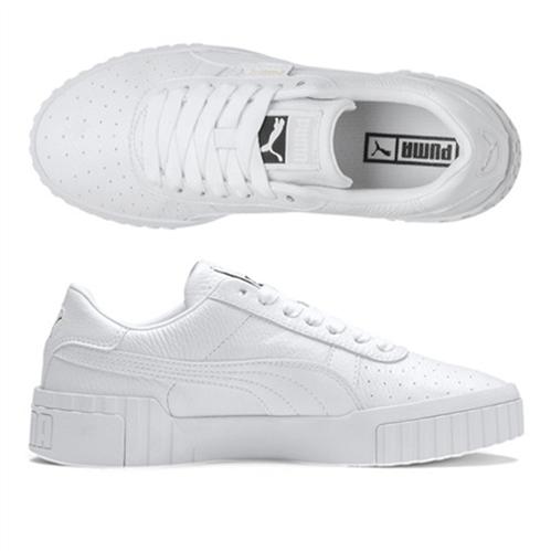 PUMA Women's Cali Shoe, White/White
