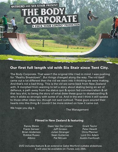 Anti Hero The Body Corporate Video