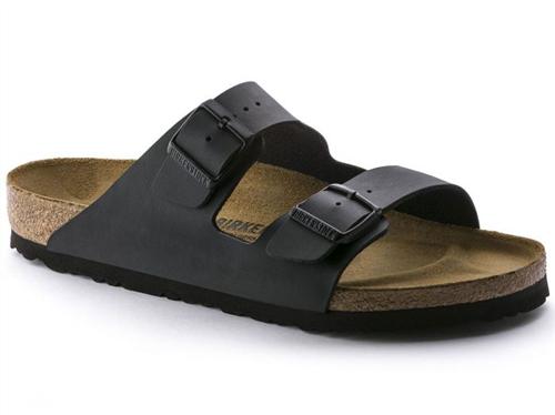 Birkenstock Arizona Birko Flor Narrow Sandal, Black