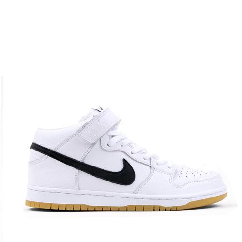 Nike Sb Dunk Mid Pro Iso Shoes, 100, White Black