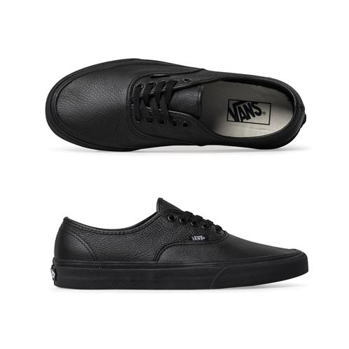 Vans Authentic Leather Shoes, Black