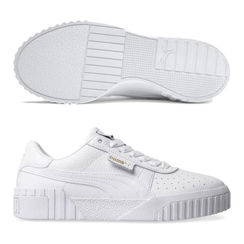 PUMA Womens Cali Shoe, White/White