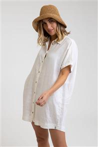 Rhythm SHIRT DRESS, WHITE