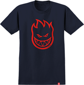 Spitfire BIGHEAD SHORT SLEEVE TEE, NAVY/RED