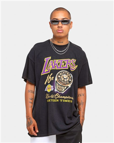 Mitchell & Ness LA LAKERS VINTAGE CHAMPIONSHIP RINGS SINGLET, LAKERS BLACK