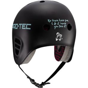 Protec Full Cut Sky Brown Helmet, Black