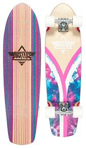 """Dusters Flashback Tie Dye  31"""" Skate Cruiser, Pink/Blue"""