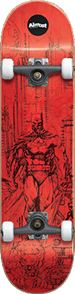 Almost Batman Jim Lee Complete Skateboard, Red