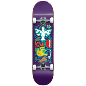 Almost Sky Brown Skateistan Sky Doodle FP Complete, Purple, 7.875