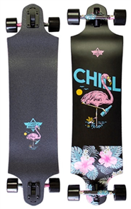 Dusters Chill Longboard Complete, Black