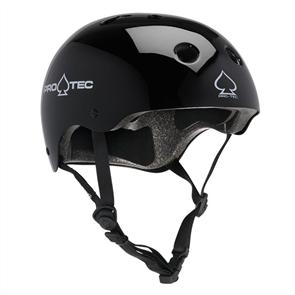 Protec Classic Certified Helmet, Black Gloss