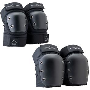 Pro-Tec Street Knee/Elbow Set Saftey Pads, Black