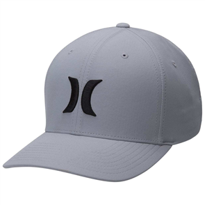 Hurley DRI FIT ONE AND ONLY  MENS CAP, WOLF GREY/ BLACK