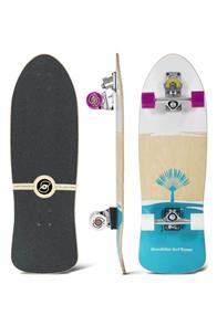 "SmoothStar Johanne Defay Pro Model 32.5"" Surf Skateboard, White/ Teal"