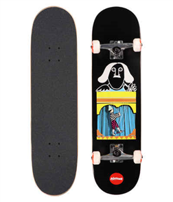"""Almost Puppet Master First Push Skate Complete, Black 8.125"""""""