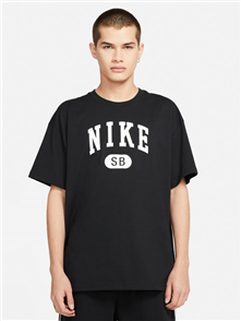 Nike SB COLLEGIATE TEE, BLK/WHT