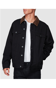 Billabong BARLOW TRUCKER JACKET, BLACK