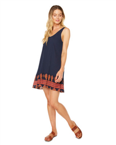 Oneill Pasadena Dress, Navy Border
