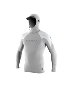 Oneill O'ZONE TECH Long Sleeve CREW With HOOD, Lunar White
