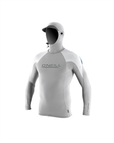Oneill O'Zone Tech Long Sleeve Crew With Hood, Lunar Black X07