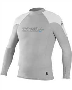 Oneill O'ZONE Long Sleeve CREW Wetsuit Top,  Lunar White