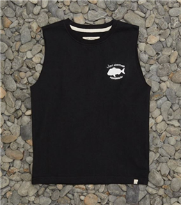 Just Another Fisherman YOUTH MINI SNAPPER LOGO TANK, BLACK