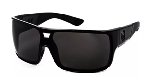 Dragon Dragon Hex LL Sunnies, Shiny Blk-Smoke