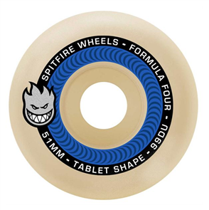 Spitfire SKATE WHEELS F4 99 TABLETS NATURAL, 51mm