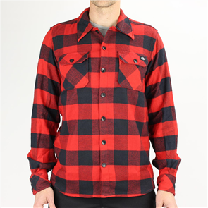 Dickies SACREMENTO LONG SLEEVE SHIRT, RED