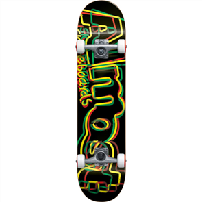 Almost Neon  8.0 Skate Complete, Rasta