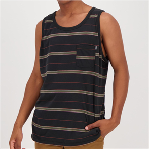 Hurley DRI-FIT HARVEY STRIP  SINGLET, BLACK