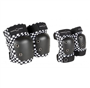 Protec Street Knee/ Elbow Pads, Checkers