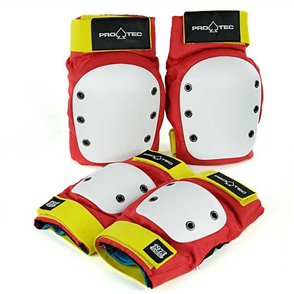 Protec Street Gear Pad Set Elbow/Knee, Retro