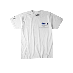 Salty Crew Blue Rogers Short Sleeve Tee, White