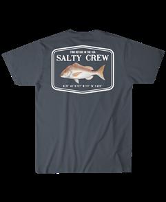 Salty Crew Snapper Mount S/S Tee, Cool Grey