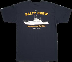 Salty Crew Sportfisher Short Sleeve Tee, Navy