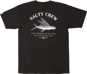 Salty Crew Flyer Short Sleeve Tee, Black