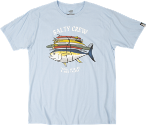 Salty Crew Voyager Short Sleeve Tee, Light Blue