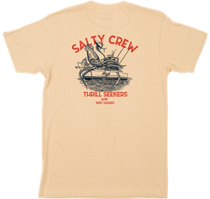 Salty Crew DEEPWATER PREMIUM S/S TEE, CAMEL