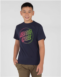 Santa Cruz Opus Dot Fade Youth Tee, Blue Nights