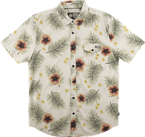 Salty Crew Macro Tropics Woven Shirt, Off White