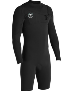 Vissla 7 SEAS 2/2mm Long Sleeve SPRING, Black With Jade