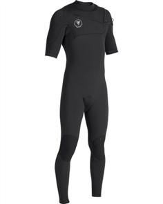 Vissla 7 SEAS 2/2mm Short Sleeve FULL SUIT, Black With Jade