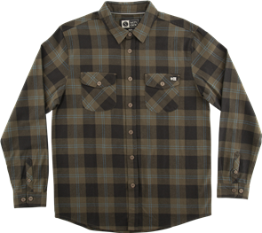 Salty Crew Inshore Flannel Woven Shirt, Olive