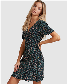 Billabong Bloom Wrap Dress, Black